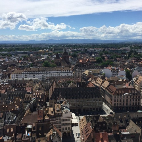 Strasbourg vue cathedrale